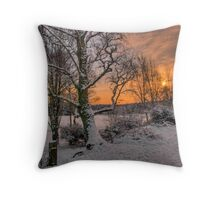 A Winter Sun Throw Pillow