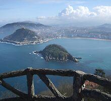 View of la concha, San Sebastian  by Jonathan Edwards