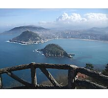 View of la concha, San Sebastian  Photographic Print