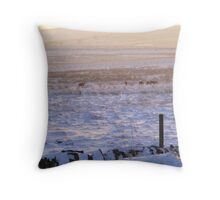 deer in the peak district  Throw Pillow