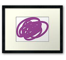 Swirly Blob Framed Print