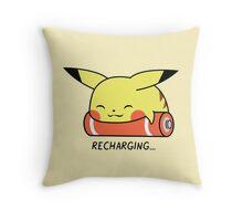 Recharging Pikachu Throw Pillow
