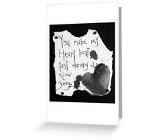 Heart Beat B&W  Greeting Card