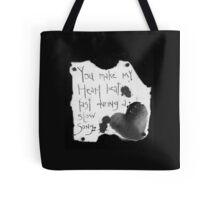 Heart Beat B&W  Tote Bag
