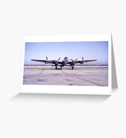 Lancaster Bomber Greeting Card