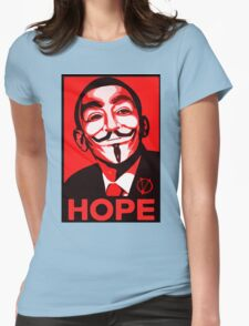 V for Vendetta, Anonymous Mask Obama Sign, HOPE Womens Fitted T-Shirt