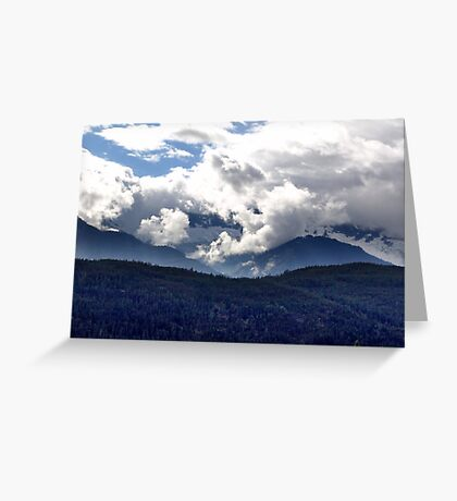 Coast Mountains and Clouds Greeting Card