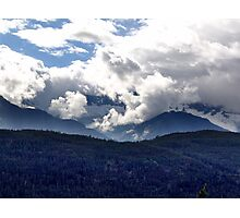 Coast Mountains and Clouds Photographic Print