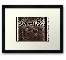 The Equation Framed Print