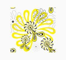 Yellow Flower Paisley Black Polka Dot Unisex T-Shirt