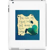 Heart beat/slow song iPad Case/Skin