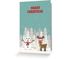 Reindeer & Snowbear Greeting Card
