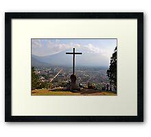 an awe-inspiring Guatemala landscape Framed Print