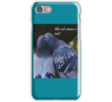 Pigeons Kissing iPhone Case/Skin
