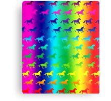 Psychedelic Unicorn Pattern Metal Print