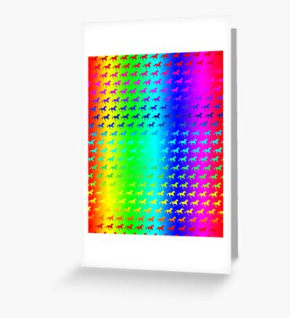 Psychedelic Unicorn Pattern Greeting Card