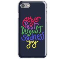 Anger, Fear, Disgust, Sadness, Joy! iPhone Case/Skin