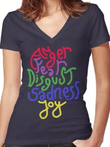 Anger, Fear, Disgust, Sadness, Joy! Women's Fitted V-Neck T-Shirt
