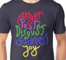 Anger, Fear, Disgust, Sadness, Joy! Unisex T-Shirt