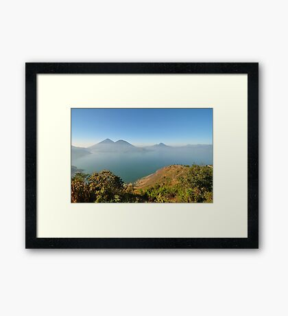 a large Guatemala landscape Framed Print