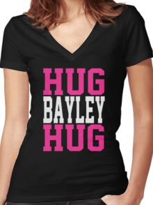 HUG BAYLEY HUG Women's Fitted V-Neck T-Shirt