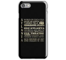 Atlanta Georgia Famous Landmarks iPhone Case/Skin