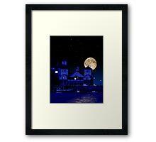 Knightstone Island in Moonlight Framed Print