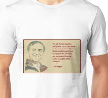 Carl Saga on marijuana Unisex T-Shirt
