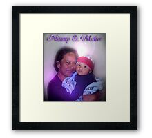 Mum & her grandson Framed Print