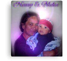 Mum & her grandson Canvas Print