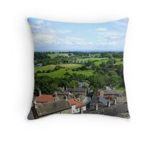the countryside beyond town Throw Pillow