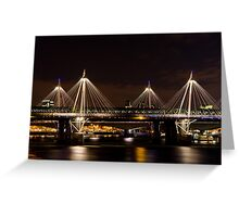 Golden Jubilee & Hungerford bridges, London Greeting Card