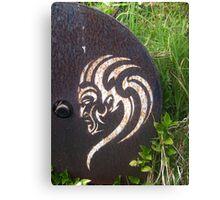 Maori Stencil Art Canvas Print