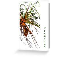 Pandanus Greeting Card