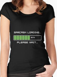 Sarcasm Loading T Shirt Women's Fitted Scoop T-Shirt