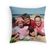 Michael and Jamie, with cousins Throw Pillow