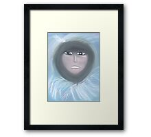 White Feather Framed Print