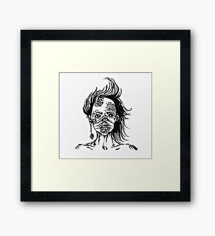 Mermaid Face Framed Print