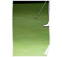 Golfer, Putter, and Hole Poster