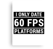 PC Master Race - 60 fps Canvas Print