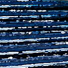 Blue, White &amp; Black Abstract Background by RatManDude