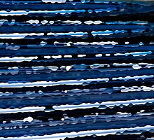 Blue, White & Black Abstract Background by RatManDude