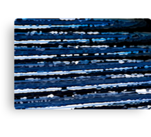 Blue, White & Black Abstract Background Canvas Print