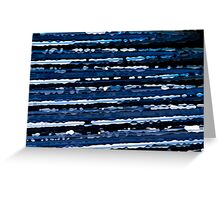 Blue, White & Black Abstract Background Greeting Card