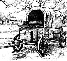 Chuck Wagon on the Johnson Settlement by Elaine Bawden