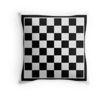 Checkers board Throw Pillow