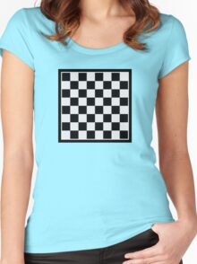 Checkers board Women's Fitted Scoop T-Shirt