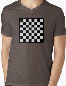 Checkers board Mens V-Neck T-Shirt