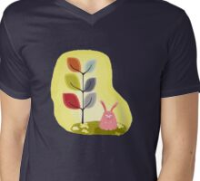 Pink Rabbit Mens V-Neck T-Shirt