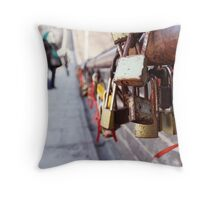 a lock on history Throw Pillow